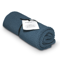 "Aspegren Handtuch ""Knit with Love"" Blau"