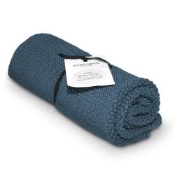"""Aspegren Handtuch """"Knit with Love"""" Blau"""