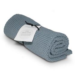 "Aspegren Handtuch ""Knit with Love"" Blaugrau"