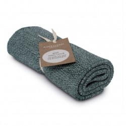 "Aspegren Handtuch ""Knit with Love"" Blend Dark Seagreen"