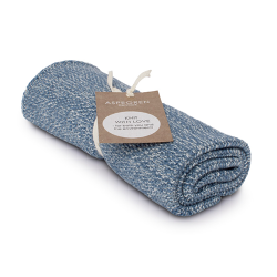 "Aspegren Handtuch ""Knit with Love"" Blend Light Blue"