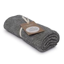 """Aspegren Handtuch """"Knit with Love"""" Blend Dark Grey"""