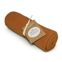 "Aspegren Handtuch ""Knit with Love"" Solid Pumpkin"