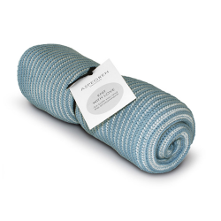 "Aspegren Handtuch ""Knit with Love"" Lamella Blau"