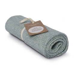 "Aspegren Handtuch ""Knit with Love"" Blend Light Seagreen"