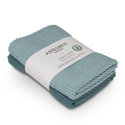 """Aspegren Spültuchset """"Organic Cotton"""" Solid Aqua"""