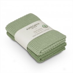 """Aspegren Spültuchset """"Organic Cotton"""" Laurel Green"""
