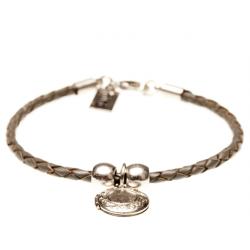 Armband Grau mit Amulett