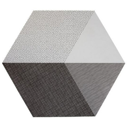 "Tischset ""Hexagon"" Grau"