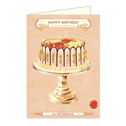 "Cavallini Klappkarte ""Happy Birthday Cake"""