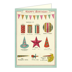 "Cavallini Klappkarte ""Happy Birthday Celebrations"""