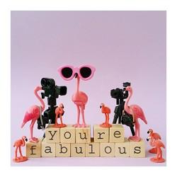 Flamingo Grußkarte YOU'RE FABULOUS