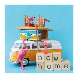 Flamingo Grußkarte NEW HOME