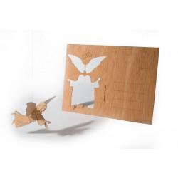 Holzbastelkarte Engel