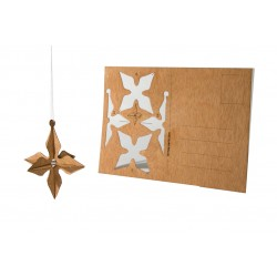 Holzbastelkarte 3D Stern