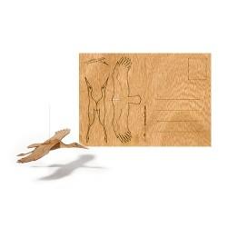 Holzbastelkarte Storch