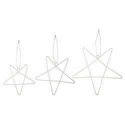 Sterne Anhänger  3er Set Weiß