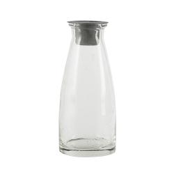 Flasche mit Kerzenhaltereinsatz 13cm
