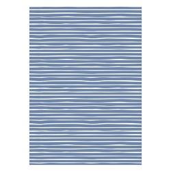 5 Meter Geschenkpapier Stripes Blau