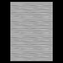 5 Meter Geschenkpapier Stripes Grau