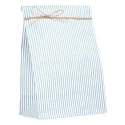 Geschenktütchen mit blaugrauen Streifen Groß