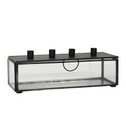 Glasbox Kerzenhalter Vintage Black