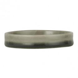 Keramik Kerzenuntersetzer Grau