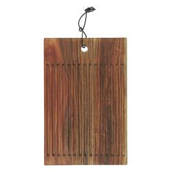 Brett aus Akazienholz mit Rillen