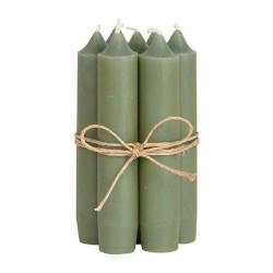 Stabkerzen 10er Set Olivegrün
