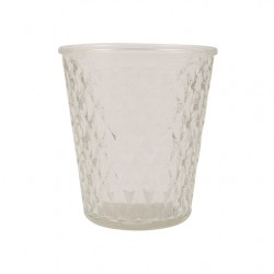 Vase und Teelicht VICTORIA Clear