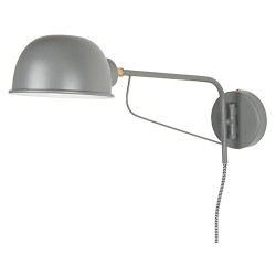 "Wandlampe ""Round"" Grau"