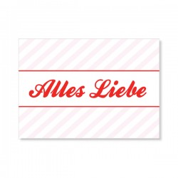 "Karte ""Alles Liebe"""