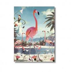 Karte Pink Flamingo