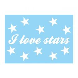 """Karte """"I love stars"""""""
