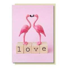 Flamingo Klappkarte LOVE