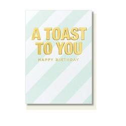 """Klappkarte """"A toast to you"""""""