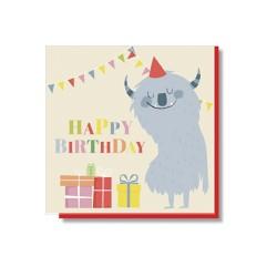Klappkarte Happy Birthday Monster