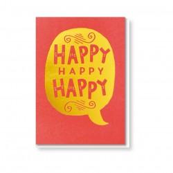 "Klappkarte ""Happy Happy Happy"""