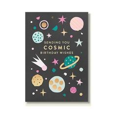 "Klappkarte ""Sending cosmic birthday wishes to you"""