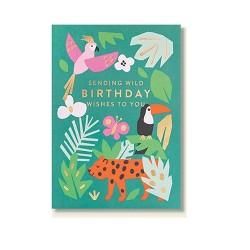 "Klappkarte ""Sending wild birthday wishes to you"""