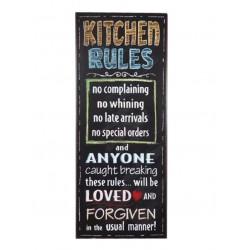 """Schild """"Kitchen Rules"""""""