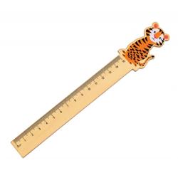 Bunte Tierfreunde Lineal Tiger
