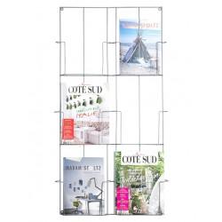 Magazinhalter mit 6 Fächern