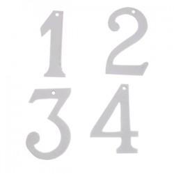 Zahlenanhänger Weiß