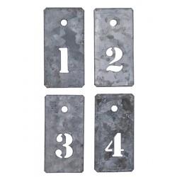 Zahlenanhänger 1-4  Mini Schablonen