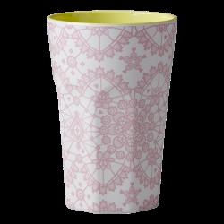 Melamin Latte Becher LACE Rosa