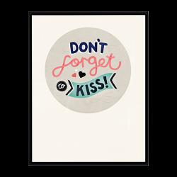 """Michelle Carlslund Bild """"Don´t forget to kiss"""""""