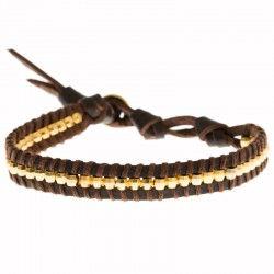 Armband Enigma Dunkelbraun