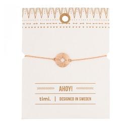 "Armkettchen ""Kompass"" Rosé Gold"