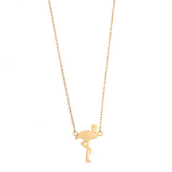 "Halskette ""Flamingo"" Gold"